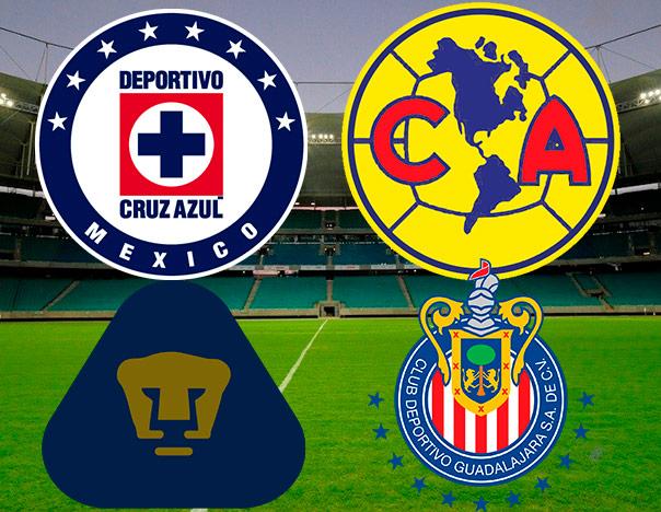 f4c802e686fc5 Los cuatro grandes  Los mejores-peores equipos del fútbol mexicano ...